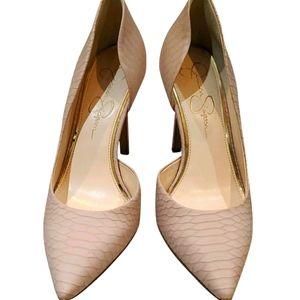 Jessica Simpson beige/pink heels